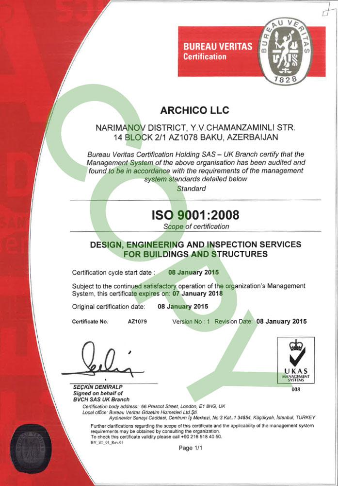 ArchiCO - Lisenziya ve Sertifikatlar